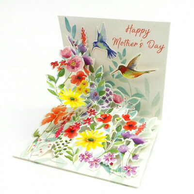 Mothers Day Greeting Card Hummingbirds Song 3D Pop Up Card Up With Paper