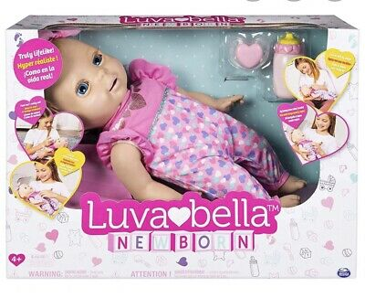 Luvabella Newborn Interactive Baby Doll Blonde Hair Real Expressions - Movement