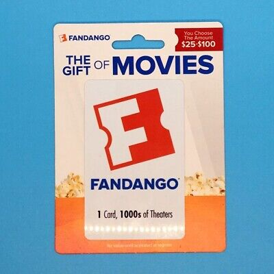 100 Fandango movie gift card - FREE SHIPPING