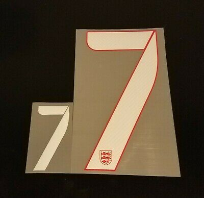 England FIFA World Cup 2014 7 Number Set for Away Soccer Jersey