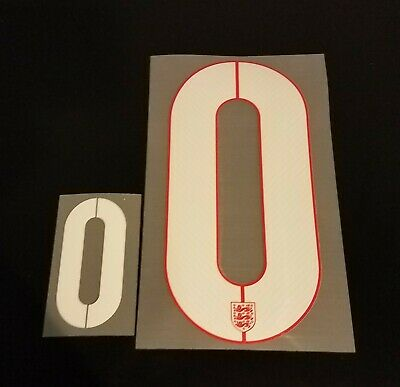 England FIFA World Cup 2014 0 Number Set for Away Soccer Jersey