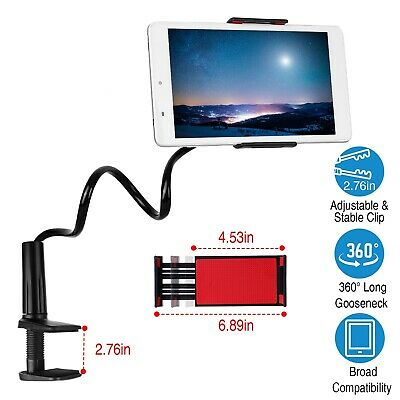Flexible 360º Lazy Bed Gooseneck Tablet Stand Holder Mount For iPad Cell Phone