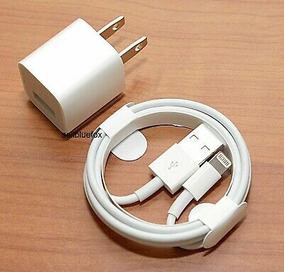 iPhone charger USB cable - wall cube for  IPHONE 5  6 6- 7 7- 8 X XR