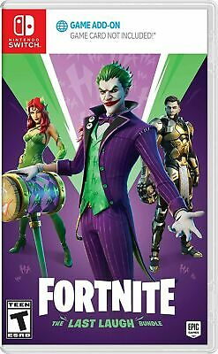 Fortnite The Last Laugh Bundle - Nintento Switch DC Joker Epic Games Brand New