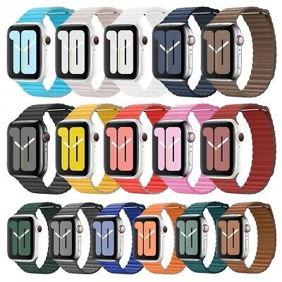 For Apple Watch Magnetic Leather Loop Band 42mm 38mm 44mm 40mm Series 65432