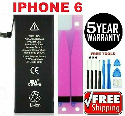 Battery For iPhone 6 internal replacement 1810mAh Free oem Tools - tape
