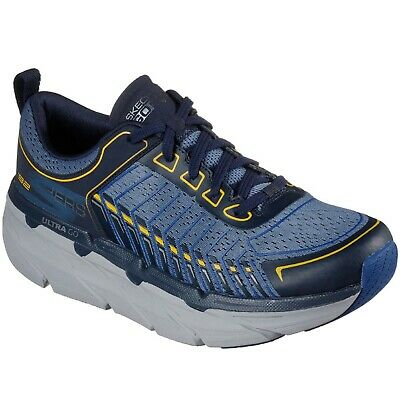 Mens Skechers MAX CUSHIONING PREMIERE 220070 NVBL Navy Lace-Up Shoes