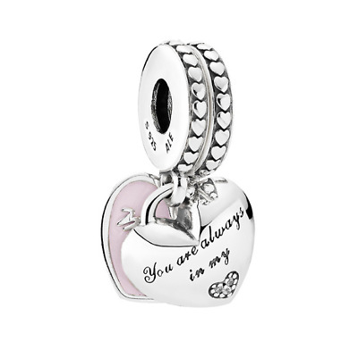 Pandora 925 Silver  Mothers Day Mother daughter Concentric pendant 792072
