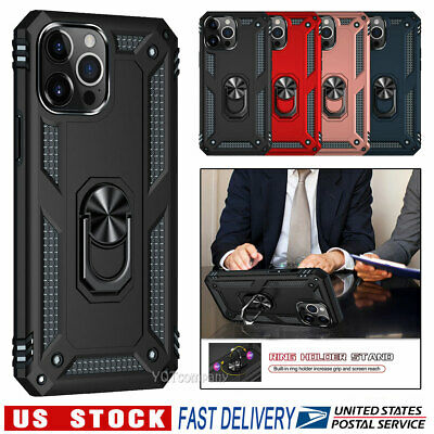 For iPhone 6 6s 7 8 Plus SE 2020 12 11 Pro XS Max XR Case Cover With Ring Stand
