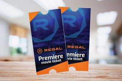 8 Regal Cinema Premiere Movie Tickets w PIN for E-ticket Advanced Reservations