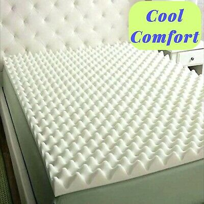 Foam Convoluted Bed Mattress Topper Pad 3 in- Twin Size SOFT Orthopedic