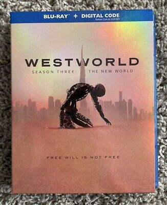hbo WESTWORLD SEASON 3 BLU-RAY the new world INCLUDES DIGITAL COPY 3 DISCs CLEAN