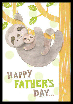 0093GC - Fathers Day Greeting Card - Sloth