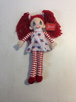 Softouch Toys Fourth of July Girl 14 Plush w Yarn Hair