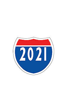 Interstate Sign Windshield Stickers - 2021 - Pack of 12