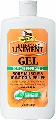Absorbine Veterinary Liniment Gel 12oz  Topical Analgesic - Joint Pain Relief
