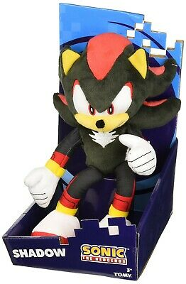 TOMY 12 Sonic Modern Shadow Plush Blackred Factory Sealed in Plastic Poly Bag