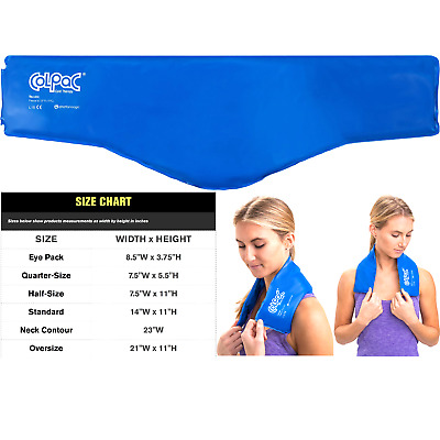 Chattanooga ColPac - Reusable Gel Ice Pack - Blue Vinyl - Neck Contour - 23 i...