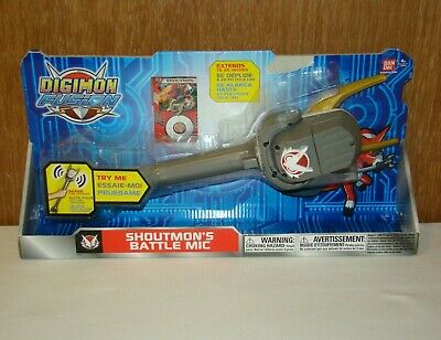 Digimon Fusion Shoutmons Battle Mic extends up to 20 w sounds New 2013 Bandai