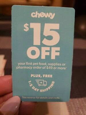 CHEWY COUPON 15 OFF First Order of 49 chewy-com Expires 43021