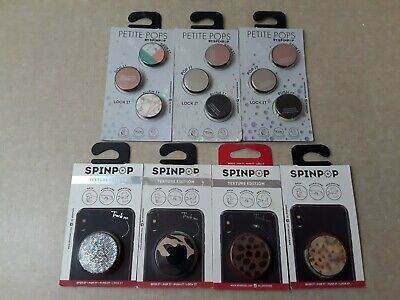 SpinPop Petite Pops Cell Phone Accessories Lot Of 13