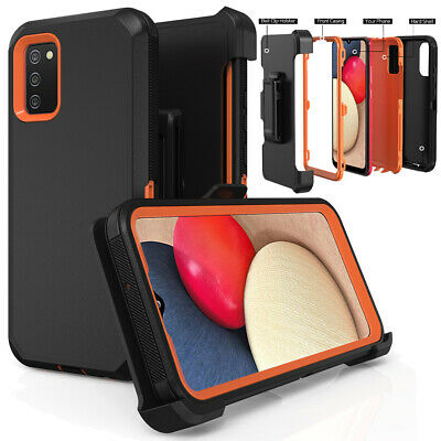 For Samsung Galaxy A02S Case Holster Belt Clip Stand Heavy Duty Shockproof Cover