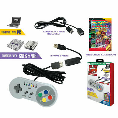 NEW Emio The Edge Super Gamepad for SNES Classic Edition and PC w USB Adapter