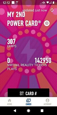Dave and Busters Power Card - 142,950 Tickets & 307 Chips - Physical Card