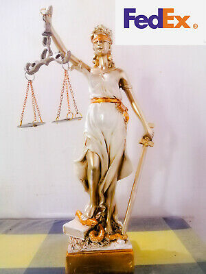 Blind Lady Scales of Justice Lawyer Attorney Judge Figurine Statue Sculpture