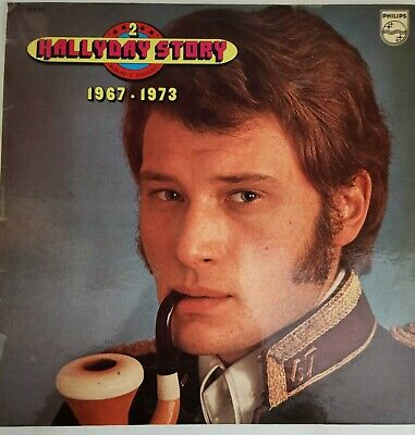 JOHNNY HALLYDAY DOUBLE LP 33T VINYL COMPILATION STORY 1967 1973
