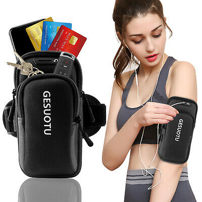 Universal Arm Band Cell Phone Holder Pouch Sports Running Jogging Wristband Bag