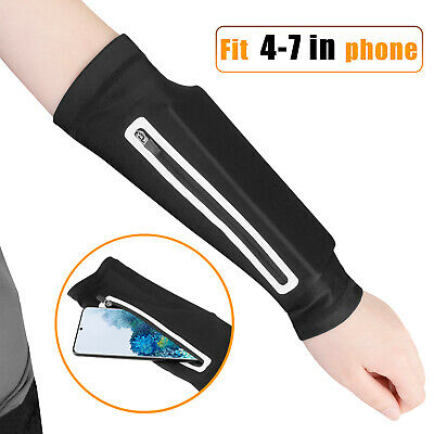 Arm Band Cell Phone Holder Pouch Sports Running Jogging Exercise Wristband Bag