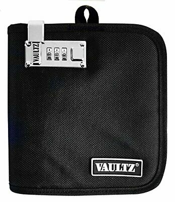 Vaultz Protective Locking Game Wallet Soft Sided 24 CD Capacity Black VZ00269