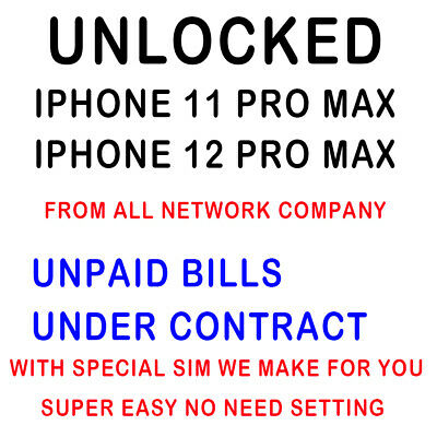 AT-T T-mobile Unlock Service iPhone 12 Pro Max Unpaid bills Under Contract