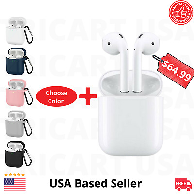 Apple AirPods 2nd Generation Wireless Earbuds With 6 in 1 Acessoories Bundle