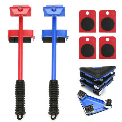 440660lbs Heavy Duty Furniture Lifter with 4 Moving Sliders Move Roller Tools