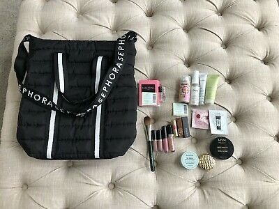 Lot of Hair Perfume and Makeup with Sephora Tote Bag