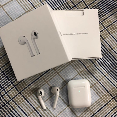 AirPods 2nd Generation Wireless Charging White Earbuds Refurbished Fast Shipping