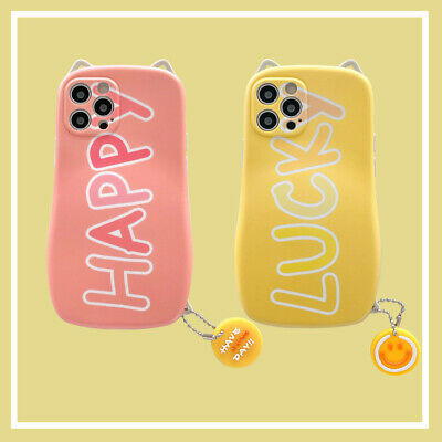 Cat Ears Greetings Text Pattern Phone Case Cover For iPhone 11 12 Pro Max XR XS