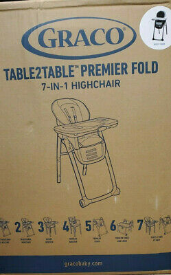 Graco Table2Table Premier Fold 7-in-1 High Chair Myles