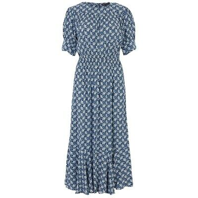 M-S Floral Cabbage Printed Dress Kate Middleton Size 8