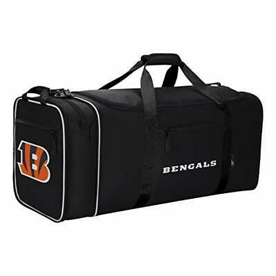 Officially Licensed NFL Expanding X-Large Steal Duffel Bag Cincinnati Bengals