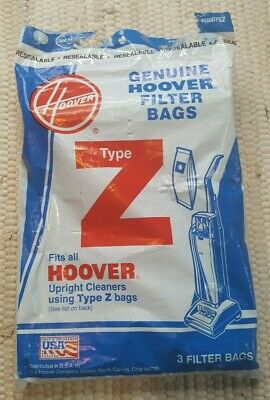 Hoover Vacuum Cleaner Bag Genuine Filter Bags Type Z Fits All Upright Cleaners