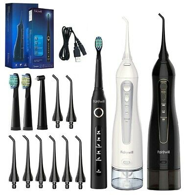 Fairywill Water Flosser Oral Irrigator Teeth Cleaner - 5 Modes Sonic Toothbrush