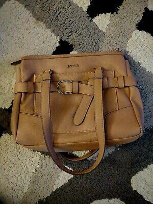 Rosetti Beige Zippered Cayson Satchel Over Shoulder Bag And Interior Pockets