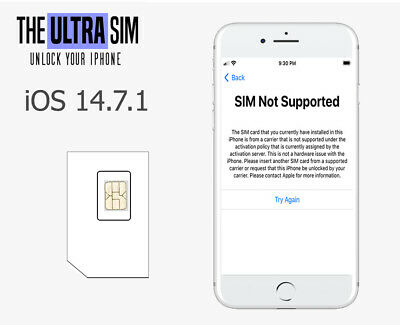 iPhone Network Unlocking SIM - iPhone 6s up to 12 Pro Max - iOS 14-7-1