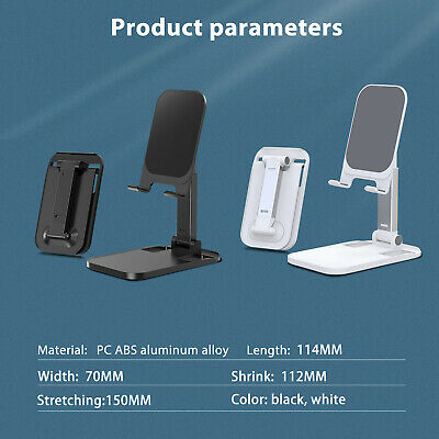 Adjustable Cell Phone Stand Holder Desk Mount For iPad iPhone Samsung Tablet