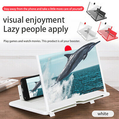 USA Mobile Phone Screen Magnifier HD Video Amplifier Pull-out Stand Bracket 12