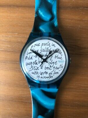 Montre Swatch BLUE PASTA GG138 - HS, out of order !