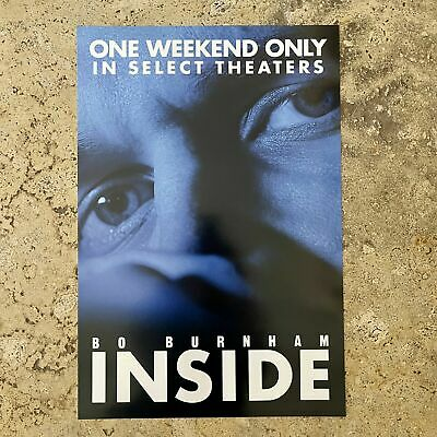 Bo Burnham - Inside RARE Poster In Theaters One Weekend Only W13-5 in X H20 in